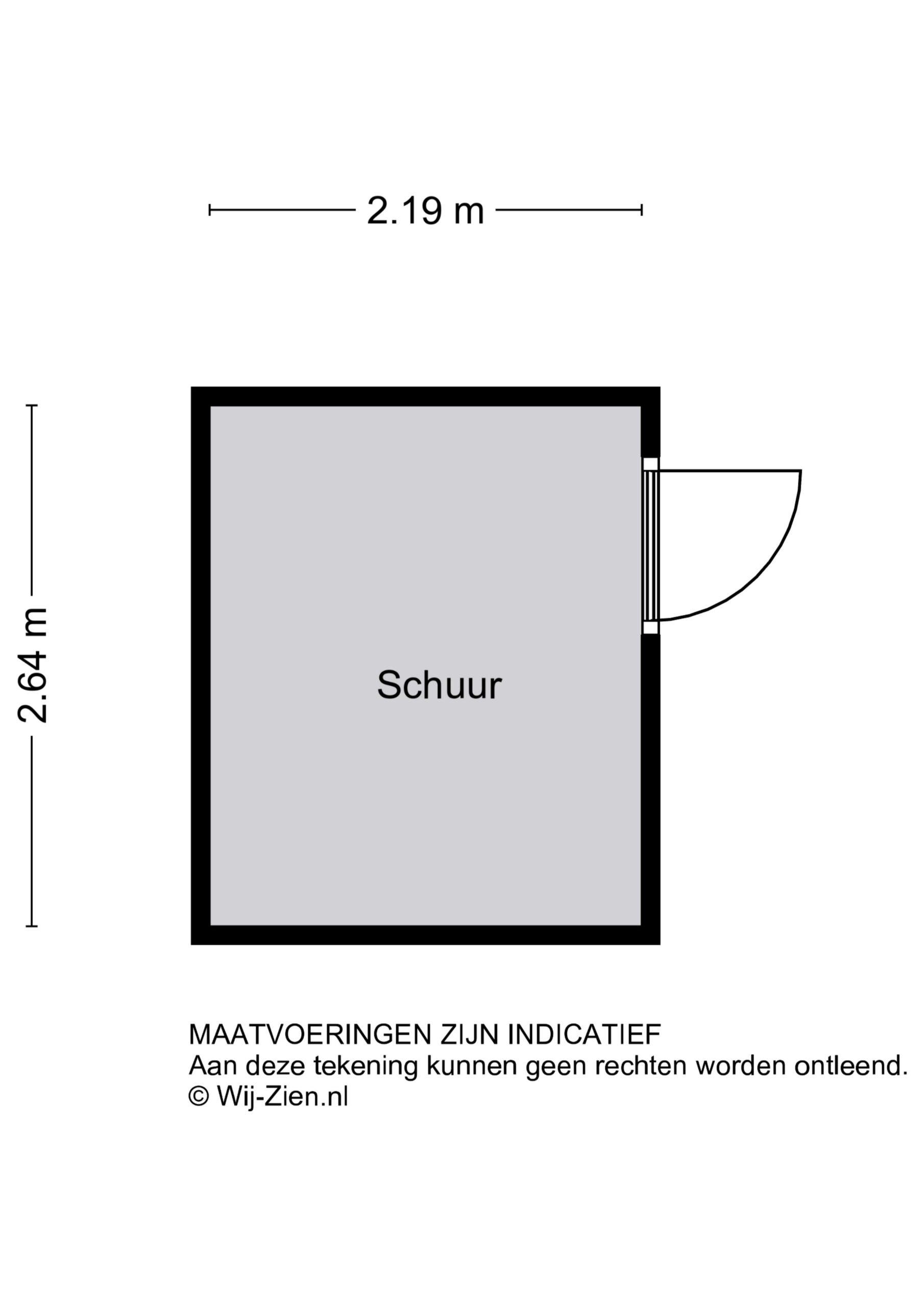 Plattegrond Tussenwoning Merbau 299 , Dordrecht