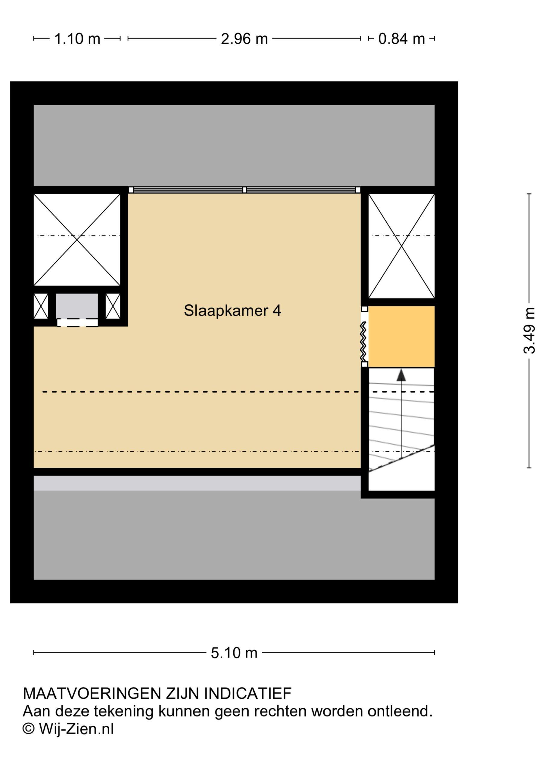 Plattegrond Tussenwoning Prins Hendrikstraat 38 , Zwijndrecht